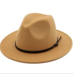 Caramel  belted hat